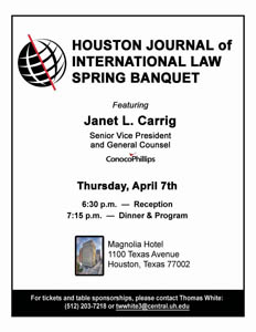 HJIL Events - 2016 - Houston Journal of International Law